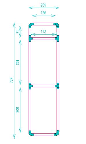 パイプラック 設計図