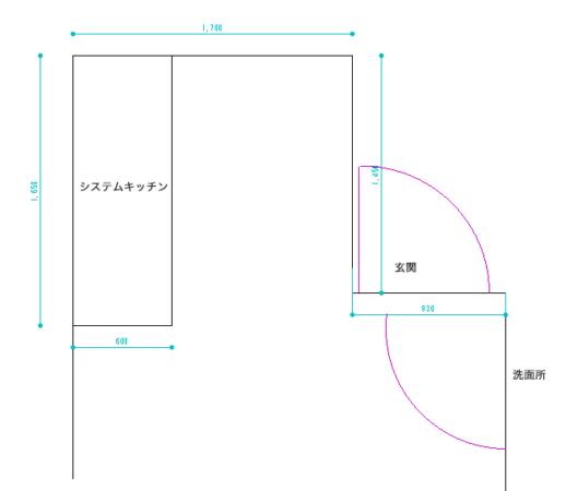 キッチン 間取り図