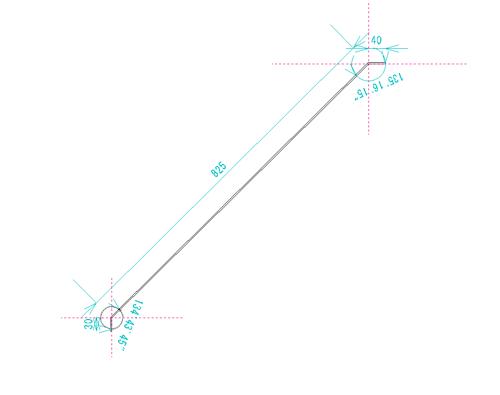 テーブル脚 筋交い 図面